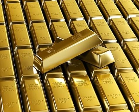 Зубные коронки высокопробное золото.